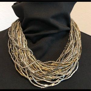 Jewelry - Metallic Multi Bead Necklace